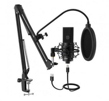 Мікрофон FIFINE K669 з пантографом, павуком та поп фільтром 10 см