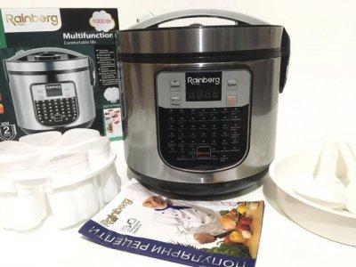 Мультиварка Rainberg RB-6209 + йогуртница 1000 Вт с 45 программами на 6 литров Серебристая (11279)