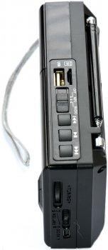 Радиоприемник Golon RX-6622 со встроенными портами USB/TF со встроенным аккумулятором 600 mAh Черная (11244)