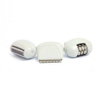 Эпилятор Nikai 7698 беспроводной с 2 насадками для зон бикини и бритья Розовый (11212)