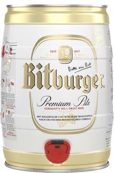 Пиво Bitburger Premium Pils светлое фильтрованное 4.8% 5 л (4102430000806)