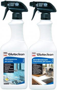 Акционный комплект для кухни Glutoclean Обезжириватель 0.75 л + Дезинфицирующий очиститель 0.75 л (4002175998799)