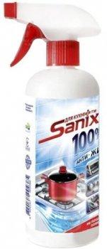 Упаковка средства для чистки загрязнения на кухне Sanix Анти-жир 500 мл х 12 шт (4820167004378)