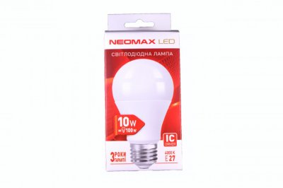 Лампа LED Neomax A60 10W 3000K