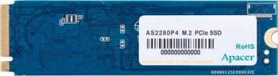 Apacer AS2280P4 256GB NVMe M.2 2280 PCIe 3.0 x4 3D NAND TLC (AP256GAS2280P4-1)