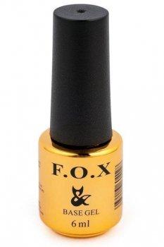 Базовое каучуковое покрытие для ногтей F.O.X Base Rubber 6мл