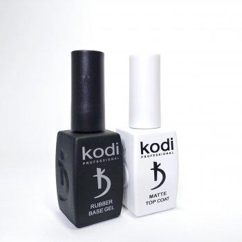 База каучукова і матовий топ для нігтів Kodi Professional по 12 мл