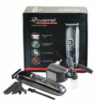 Беспроводная машинка для стрижки волос Gemei GM-6050 Black