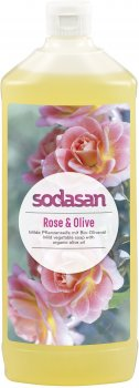 Органическое жидкое мыло Sodasan Rose-Olive тонизирующее с розовым и оливковым маслами 1 л (4019886076166)