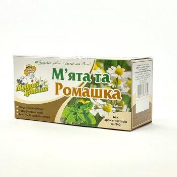 """Фіточай Мудрий Травник """"М'ята + Ромашка"""" 20 пак. по 1,2 г"""