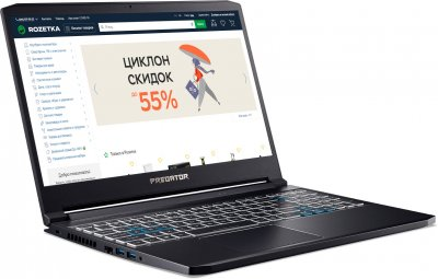 Ноутбук Acer Predator Triton 300 PT315-52-72DR (NH.Q7BEU.00G) Abyssal Black