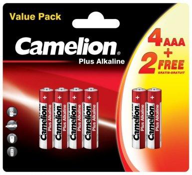 Батарейки Camelion Plus Alkaline 1x(4+2) шт (4+2LR03-BP)