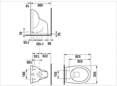 Унитаз подвесной JIKA Dino Rimless H8603770000001 с сиденьем Soft Close