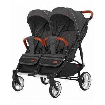 Прогулянкова коляска для двійні Carrello Connect CRL-5502 Serious Black (CRL-5502)