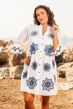 Пляжна туніка-сорочка AnastaSea 1164 A-2с Білий