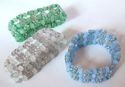 Браслеты детские KIDS плетеные на резинке 3 шт 5 см Разноцветные (БРД003/2)