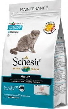 Сухой монопротеиновый корм Schesir Cat Adult Fish для взрослых котов с рыбой