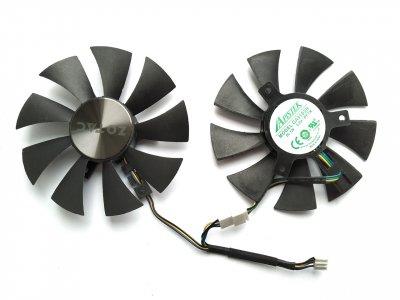 Вентилятор Apistek для видеокарты Zotac GA91S2H (GFY09010E12SPA) комплект 2 шт (№167.1)