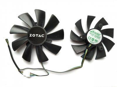 Вентилятор Apistek для видеокарты Zotac Mini GA92S2H GAA8S2U (FD9015U12S FD10015H12S) комплект 2 шт (№127)