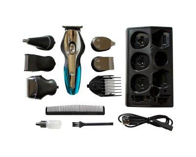 Набор для стрижки волос 11 в 1 Geemy GM 562 Машинка для стрижки + Триммер мужской Беспроводной