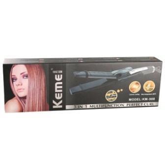 Плойка для завивки гофре Kemei GB-KM 988 3в1