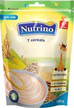 Молочна каша Nutrino 7 злаків з 6 місяців 200 г (8606019652715)