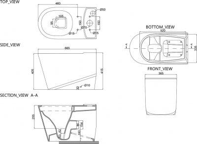 Унітаз-компакт PRIMERA Grand 8390022 з бачком і сидінням Soft Close дюропласт