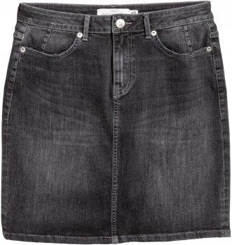 Спідниця джинсова H&M 47192756 Темно-сіра