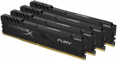 Оперативна пам'ять HyperX DDR4-2400 65536 MB PC4-19200 (Kit of 4x16384) Fury Black (HX424C15FB4K4/64)