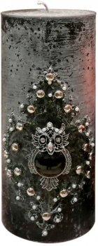 Свеча Scorpio Цилиндр 757996 10.5х25 см Черная (4820007579967)