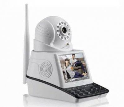 IP-камера видеонаблюдения с экраном RIAS HS-NPC002 1MP c ИК-подсветкой White