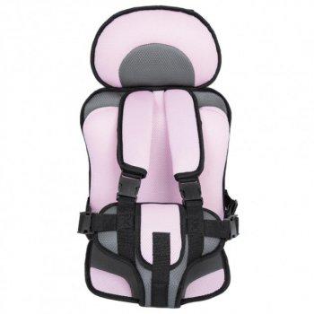 Дитяче безкаркасне автокрісло Child Car Seat 1-12 років, до 36 кг Чорно-рожевий
