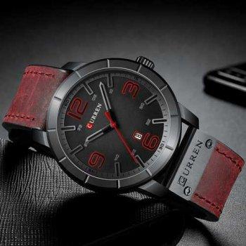 Наручний годинник AlexMosh чоловічі Curren Red-Black (1021)