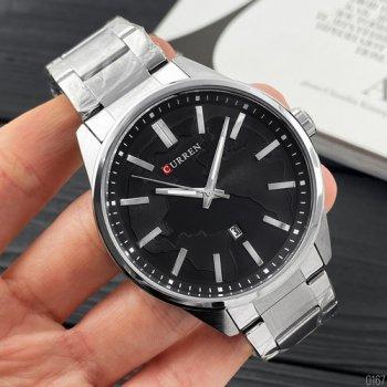 Наручний годинник AlexMosh чоловічі Curren Silver-Black (1029)