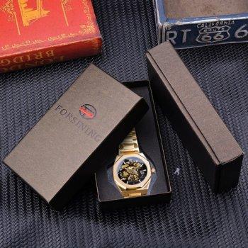Наручний годинник AlexMosh чоловічі Gusto Skeleton Gold-Black (4)