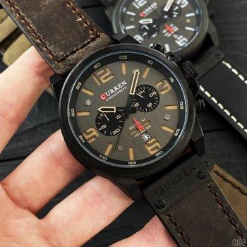 Наручний годинник AlexMosh чоловічі Curren Black-Brown (1016)