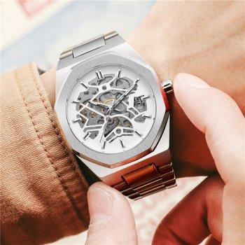 Наручний годинник AlexMosh чоловічі Gusto Skeleton Silver-White (2)
