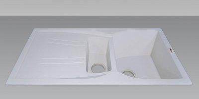 Гранітна мийка Nova Modern plus біла