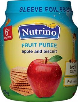Упаковка фруктового пюре Nutrino з яблук і печива 125 г х 6 шт. (8606019657321)