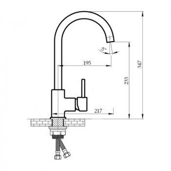 Змішувач для кухні Imperial 31-107MAR-01 SD00035619