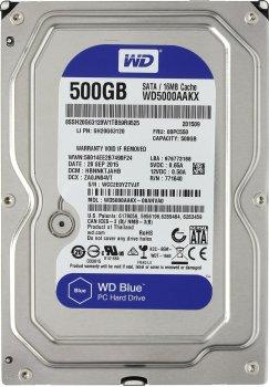 "Жорсткий диск Western Digital Blue 500ГБ 7200об/м 16МБ 3.5"" SATA III (WD5000AAKX)"