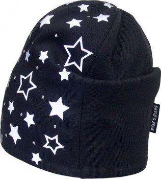 Демисезонная шапка David's Star 20252 54 см Черная (ROZ6400014321)