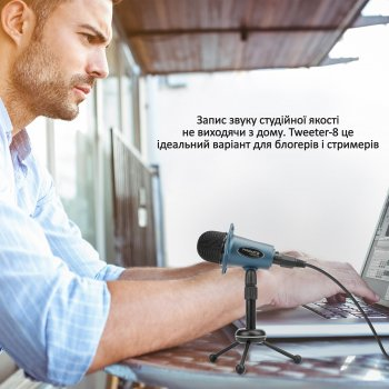 Микрофон Promate Tweeter-8 Mini-jack 3.5 мм Blue (tweeter-8.blue)