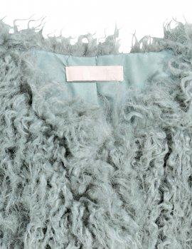 Шуба H&M Ж1051436 (05518206) колір зелений