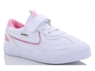 Кроссовки для девочки демисезонные белый с розовым цвет