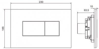 Панель смыва VOLLE Neo W 221919 белая