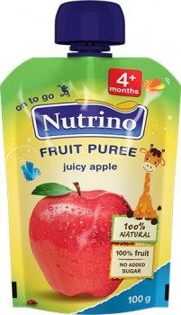Упаковка фруктового пюре Nutrino з яблука з 4 місяців 100 г х 6 шт. (8606019657451)