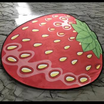 Килимок 3D антиковзаючий безворсовий килимок для будинку Полуниця