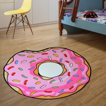Килимок 3D антиковзаючий безворсовий килимок для будинку Пончик