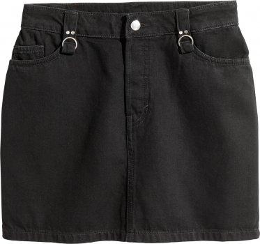 Юбка джинсовая H&M 5297336 Черная
